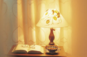Spice up a plain lampshade in a couple of easy steps.