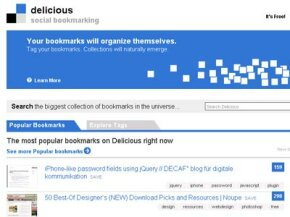 To save bookmarks on Delicious, you can either install applications onto your browser or log into the Web site.