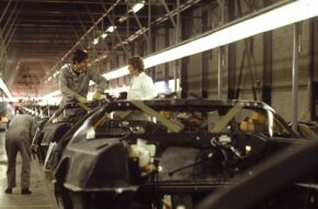 The DeLorean manufacturing plant in Northern Ireland