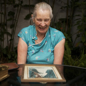 This woman would likely want to keep the picture and memory of her wedding day. See more pictures of healthy aging.