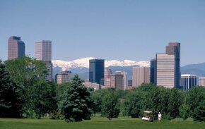 Photo courtesy ©2006 Denver CVB                                  Denver is full of contrasts, encompassing the urban skyscrapers                                                  of the downtown and the nature-rich Rocky Mountains on the outskirts.                                                  See more pictures of city skylines.