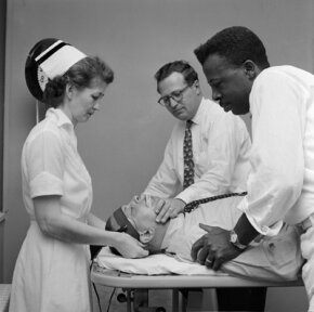 Electroconvulsive therapy is often misunderstood. This patient was treated at Hillside Mental Hospital circa 1955.