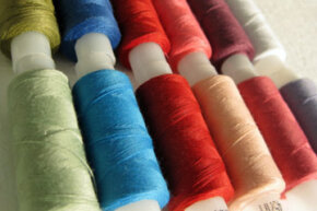 If you do choose white walls, leave your thread and fabric visible for punches of color.