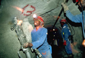 Workers in diamond mines like the DeBeers Wesselton mine in Kimberly, South Africa, have easy -- and regular -- access to uncut diamonds.