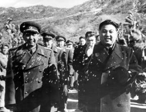 Korean dictator Kim Il Sung begins the evacuation of Chinese troops from North Korea.