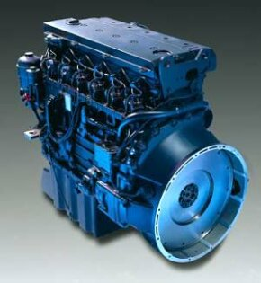 Photo courtesy DaimlerChrysler Atego six-cylinder diesel engine