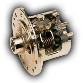 The clutch-type limited slip differential adds a spring pack and a set of clutches to the open differential.