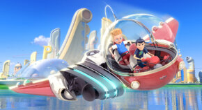 "According to director Steve Anderson and 3-D supervisor Kyle Odermatt, Lewis's arrival in the future in ""Meet the Robinsons"" is the first moment in the film that uses maximum three-dimensional depth."