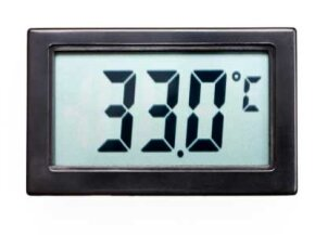 The digital thermometer pan tells you the exact heat of the pan's surface.