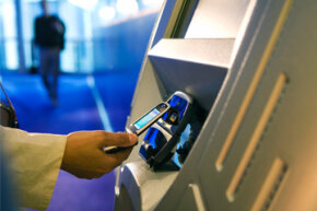 Tap an NFC-enabled payment kiosk and your transaction is complete in seconds. All you have to do is enter your PIN.