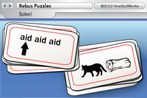 Can you solve these Dingbats-style puzzles? (The answers are in the third paragraph on this page.)