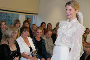 Carolina Herrera hosts a trunk show to showcase her 2009 bridal collection.