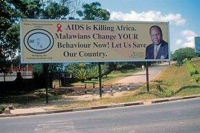 An AIDS awareness billboard in Blantyre, Malawi.