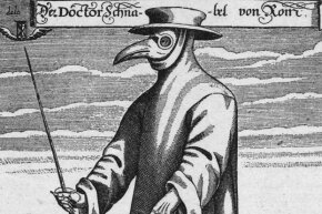 In the 1600s, this was believed to be the ideal ensemble to protect doctors from the plague.