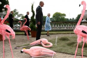 If your croquet game has enough panache, royalty may stop by for a game.