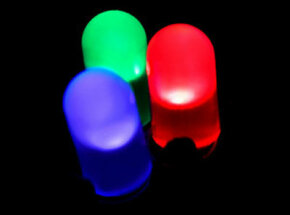 Red, green and blue light emitting diode.