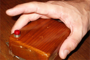 The first (wooden!) computer mouse prototype created by Douglas Engelbart and Bill English