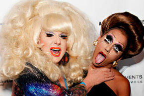 Wigstock founder Lady Bunny gets grabby on fellow drag queen Bianca Del Rio.