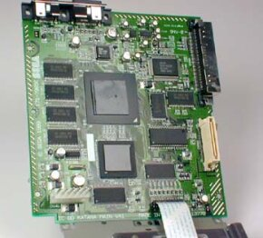 Inside a Dreamcast console is the RISC processor, similar to that in other video game systems.