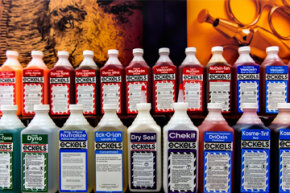 Embalming fluid might come in a variety of colors, but none of them are for the consumption of the living.