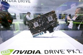 An Nvidia Drive PX 2 autonomous-vehicle computer was on display during the 2016 CES trade show in Las Vegas. Nvidia says the the new Drive PX 2 platform, designed for autonomous cars, can process 24 trillion deep learning operations a second.
