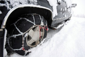 A pair of snow chains (or tire chains) can be yours for about $60 to $120