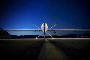 With a carrying capacity of more than 3,700 pounds, the Reaper drone packs a serious punch.