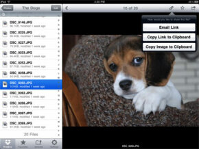 Here's some iPad Dropbox sharing in action.