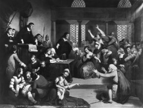 The trial of George Jacobs, one of 19 villagers who would meet their death at the gallows in 1692.