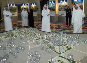Emiraties survey a model of Dubailand. See more pictures of Dubai.