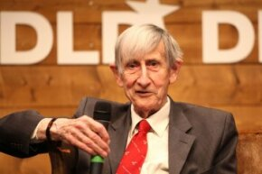 Freeman Dyson speaking during the Digital Life Design conference in Munich, Germany in 2012.