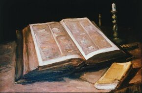 Vincent van Gogh's Still Life with Bible is an oil on canvas (25-1/2x33-3/4 inches) housed in the Van Gogh Museum in Amsterdam.