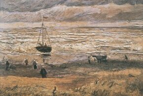Vincent van Gogh's View of the Sea at Scheveningen is an oil on canvas (13-1/2x20 inches) that is housed in the Van Gogh Museum in Amsterdam.