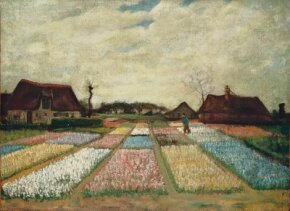 Vincent van Gogh's Flower Beds in Holland is an oil on canvas (19-1/4x26 inches) housed in the National Gallery of Art in Washington, D.C.