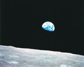 The Earth, as seen from the moon. See more pictures of the moon.