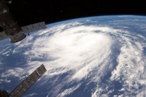 Hurricane Katia as seen from the International Space Station in August 2011