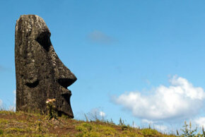 Easter Island Image Gallery One of nearly 900 moai on Easter Island. See more pictures of Easter Island.