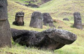 Moai were toppled, decapitated & tortured by angry Rapanui.