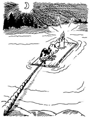 ©2007 Publications International, Ltd.                                      Build a frog raft, and see if you get passengers.