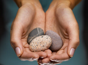 Some eco-therapists help patients by urging them to carry around reminders of nature like pebbles or bark.