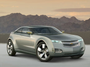 The Chevrolet Volt concept car is the first vehicle to be powered by E-Flex.