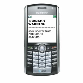 Alerts can be sent directly to cell phones.