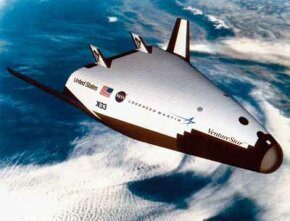 Space ventures are a gamble, as Lockheed Martin learned with its X-33 technology demonstrator. The aircraft was to be the forerunner of an orbital spacecraft to take off and land conventionally, but technical problems later forced cancellation of the contract. See more pictures of flight.