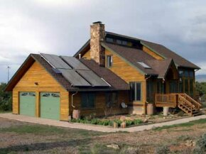Solar panels can be added to Enertia homes to harness even greater amounts of solar power.