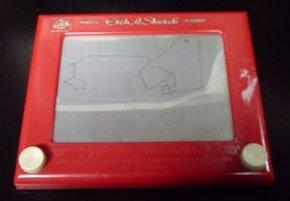 A classic etch-a-sketch