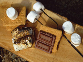 This campfire classic can be recreated indoors over a stove burner. See more chocolate pictures.