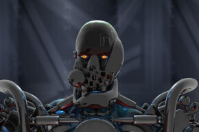 Where's this evil robot headed? Hopefully not for planet Earth! See more pictures of robots.
