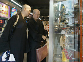 If these Buddhist monks are absent minded, they may want to go for the warranty for whichever phone they purchase.