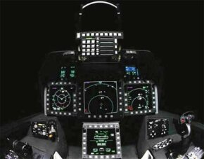 F-22 cockpit displays