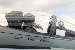 A Hornet pilot waits for take off.